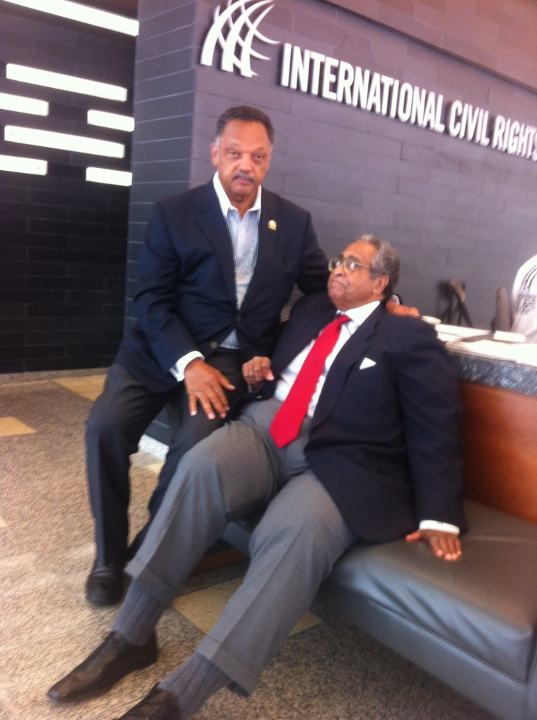 People who fight for what they believe in - Jesse Jackson and Franklin McCain at the Int'l Civil Rights Museum.   They are heroes!